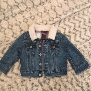 Gap blue jean coat size 18-24mo